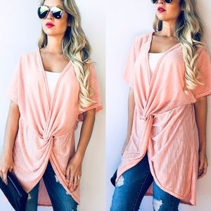 SISSY Softest Tunic Top - PEACH